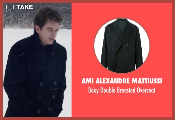 Ami Alexandre Mattiussi black overcoat from Life seen with Dane DeHaan (James Dean)