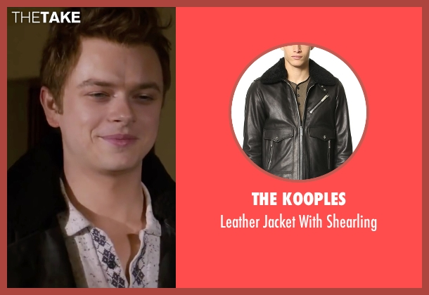 The Kooples black shearling from Life seen with Dane DeHaan (James Dean)