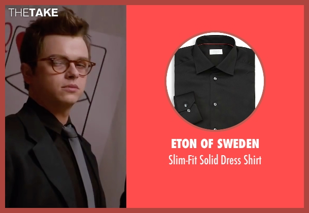 Eton of Sweden black shirt from Life seen with Dane DeHaan (James Dean)