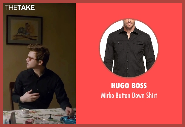 Hugo Boss black shirt from Life seen with Dane DeHaan (James Dean)
