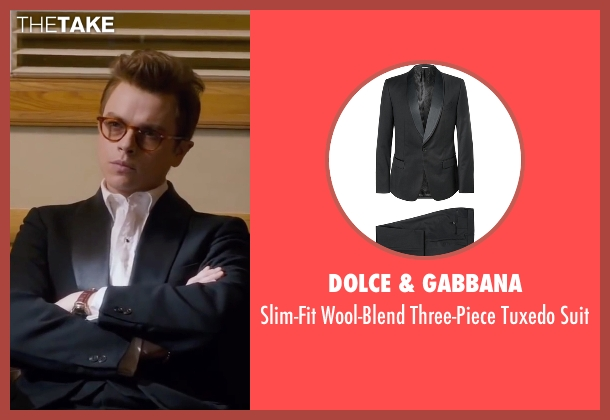 Dolce & Gabbana black suit from Life seen with Dane DeHaan (James Dean)