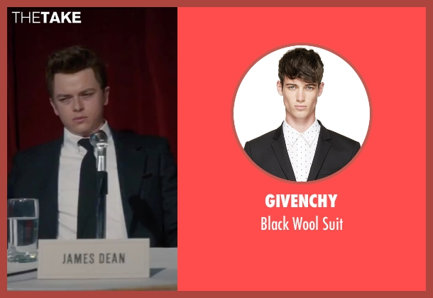Givenchy black suit from Life seen with Dane DeHaan (James Dean)
