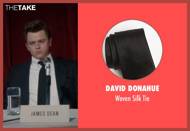 David Donahue black tie from Life seen with Dane DeHaan (James Dean)