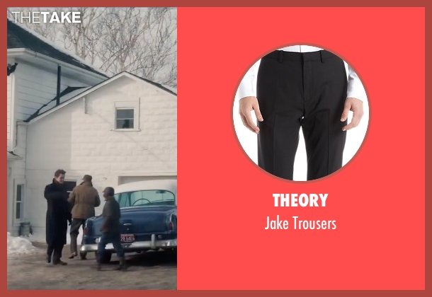 Theory black trousers from Life seen with Dane DeHaan (James Dean)