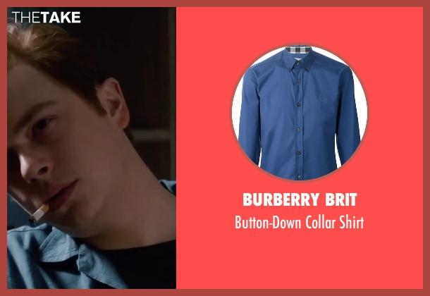 Burberry Brit blue shirt from Life seen with Dane DeHaan (James Dean)