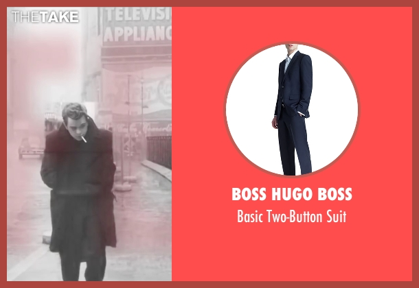 Boss Hugo Boss blue suit from Life seen with Dane DeHaan (James Dean)