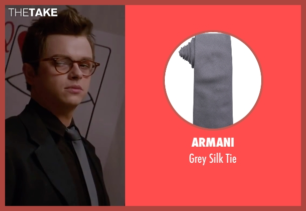Armani gray tie from Life seen with Dane DeHaan (James Dean)