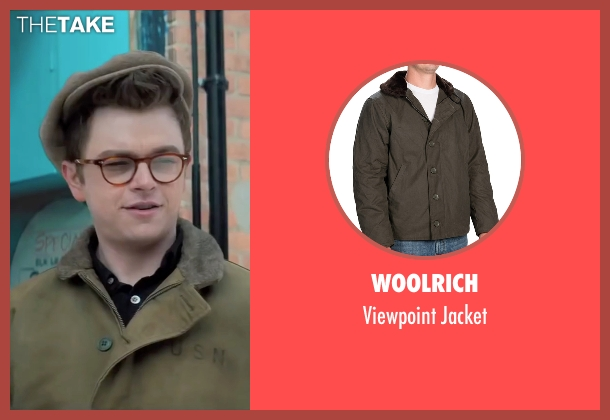 Woolrich green jacket from Life seen with Dane DeHaan (James Dean)
