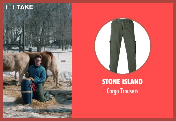 Stone Island green trousers from Life seen with Dane DeHaan (James Dean)