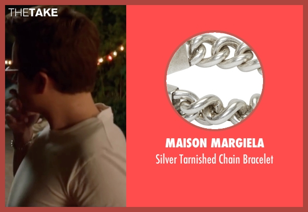 Maison Margiela silver bracelet from Life seen with Dane DeHaan (James Dean)