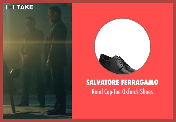 Salvatore Ferragamo black shoes from John Wick seen with Daniel Bernhardt (Kirill)