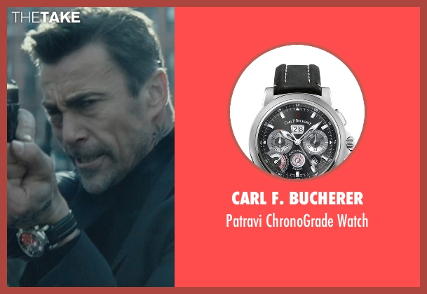 Carl F. Bucherer black watch from John Wick seen with Daniel Bernhardt (Kirill)