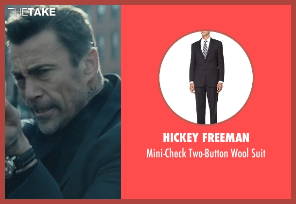 Hickey Freeman gray suit from John Wick seen with Daniel Bernhardt (Kirill)
