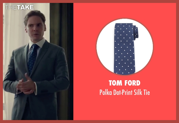 Tom Ford blue tie from Burnt seen with Daniel Brühl (Tony)