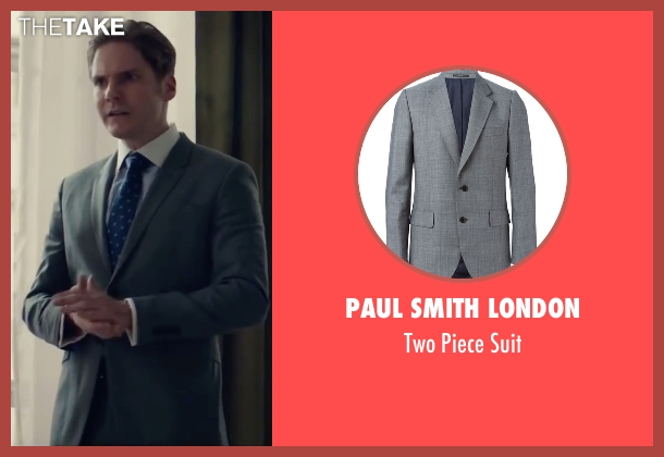 Paul Smith London gray suit from Burnt seen with Daniel Brühl (Tony)
