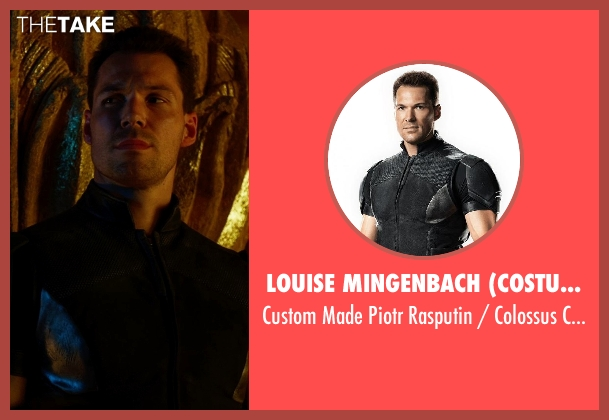 Louise Mingenbach (Costume Designer) costume from X-Men: Days of Future Past seen with Daniel Cudmore (Piotr Rasputin / Colossus)