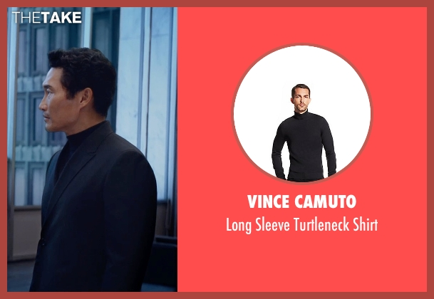 Vince Camuto black shirt from The Divergent Series: Insurgent seen with Daniel Dae Kim (Jack Kang)