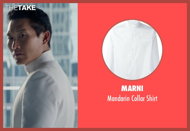 Marni white shirt from The Divergent Series: Insurgent seen with Daniel Dae Kim (Jack Kang)