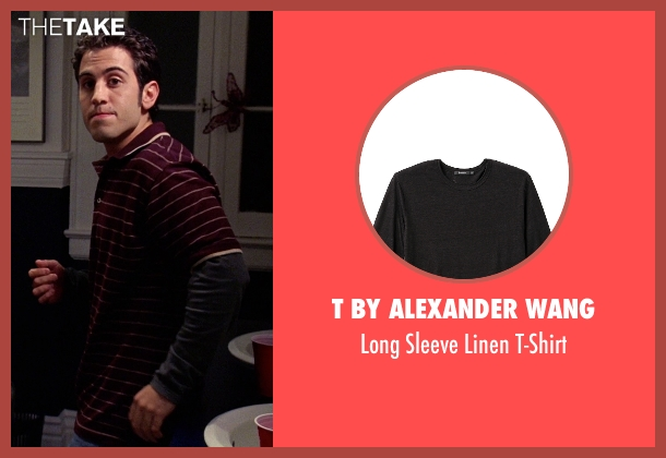 T by Alexander Wang black t-shirt from Mean Girls seen with Daniel DeSanto (Jason)