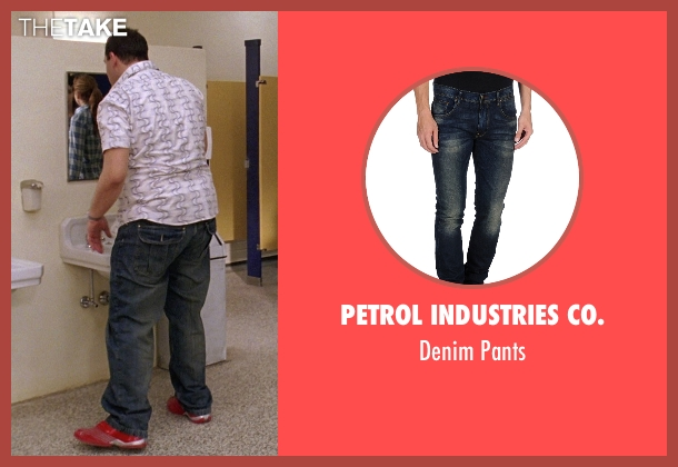 Petrol Industries Co. blue pants from Mean Girls seen with Daniel Franzese (Damian)