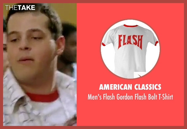 American Classics red t-shirt from Mean Girls seen with Daniel Franzese (Damian)