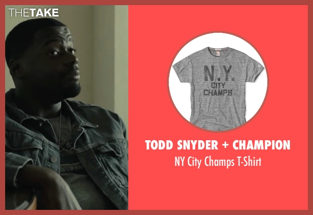 Todd Snyder + Champion gray t-shirt from Sicario seen with Daniel Kaluuya (Reggie)