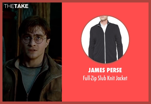 James Perse black jacket from Harry Potter and the Deathly Hallows: Part 2 seen with Daniel Radcliffe (Harry Potter)