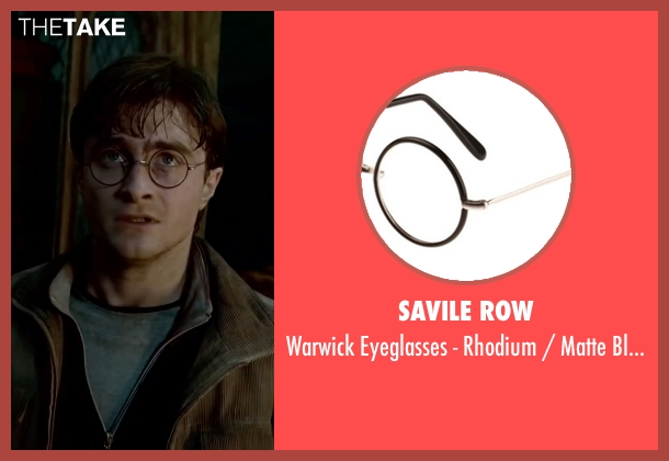 Savile Row black rim from Harry Potter and the Deathly Hallows: Part 2 seen with Daniel Radcliffe (Harry Potter)