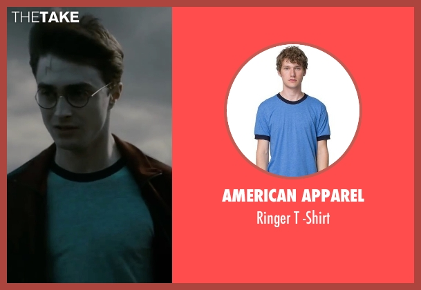American Apparel blue -shirt from Harry Potter and the Deathly Hallows: Part 2 seen with Daniel Radcliffe (Harry Potter)