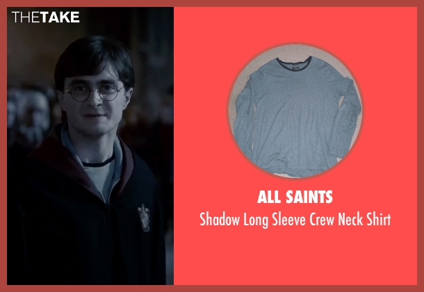 All Saints blue shirt from Harry Potter and the Deathly Hallows: Part 2 seen with Daniel Radcliffe (Harry Potter)