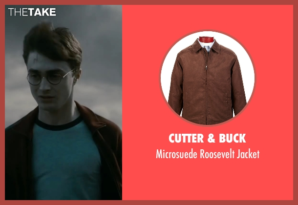 Cutter & Buck brown jacket from Harry Potter and the Deathly Hallows: Part 2 seen with Daniel Radcliffe (Harry Potter)