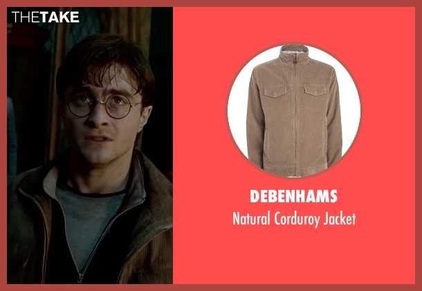 Debenhams brown jacket from Harry Potter and the Deathly Hallows: Part 2 seen with Daniel Radcliffe (Harry Potter)