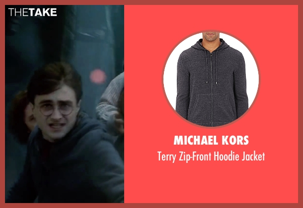 Michael Kors gray jacket from Harry Potter and the Deathly Hallows: Part 2 seen with Daniel Radcliffe (Harry Potter)