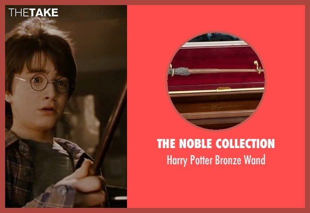 The Noble Collection wand from Harry Potter and the Deathly Hallows: Part 2 seen with Daniel Radcliffe (Harry Potter)