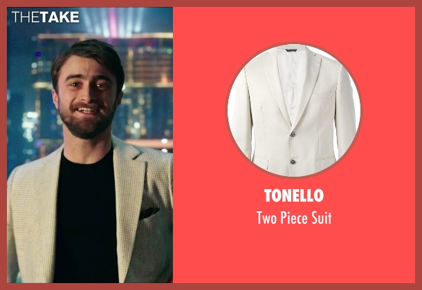 Tonello beige suit from Now You See Me 2 seen with Daniel Radcliffe (Walter)