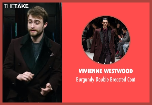 Vivienne Westwood red coat from Now You See Me 2 seen with Daniel Radcliffe (Walter)