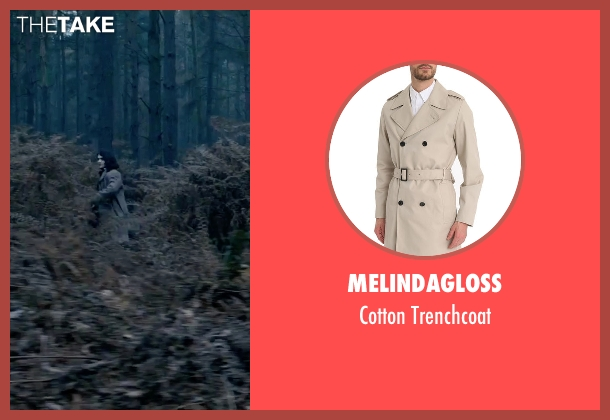 Melindagloss beige trenchcoat from Victor Frankenstein seen with Daniel Radcliffe (Igor)