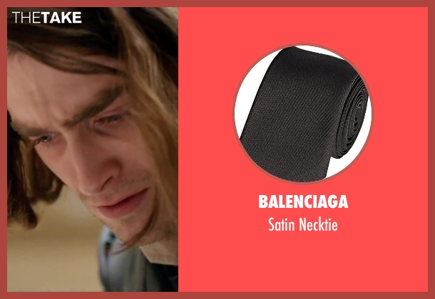 Balenciaga black necktie from Victor Frankenstein seen with Daniel Radcliffe (Igor)