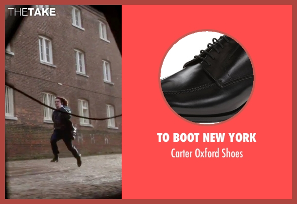 To Boot New York black shoes from Victor Frankenstein seen with Daniel Radcliffe (Igor)