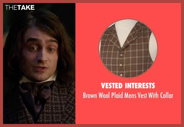 Vested Interests brown collar from Victor Frankenstein seen with Daniel Radcliffe (Igor)