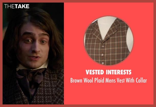 Vested Interests brown collar from Victor Frankenstein seen with Daniel Radcliffe (Igor)