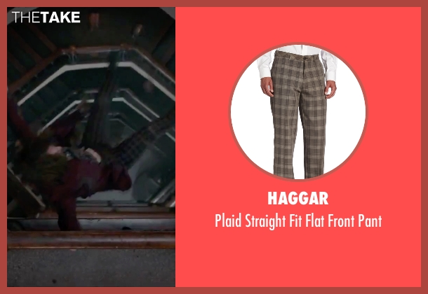 Haggar brown pant from Victor Frankenstein seen with Daniel Radcliffe (Igor)
