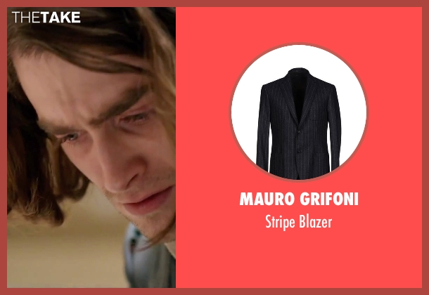 Mauro Grifoni gray blazer from Victor Frankenstein seen with Daniel Radcliffe (Igor)