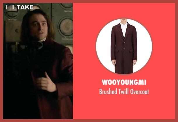 Wooyoungmi red overcoat from Victor Frankenstein seen with Daniel Radcliffe (Igor)
