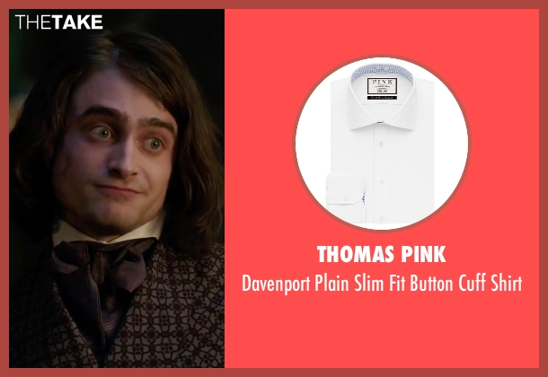 Thomas Pink white shirt from Victor Frankenstein seen with Daniel Radcliffe (Igor)
