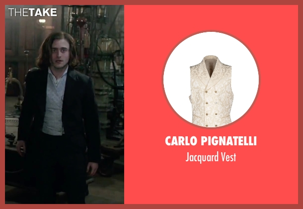 Carlo Pignatelli white vest from Victor Frankenstein seen with Daniel Radcliffe (Igor)