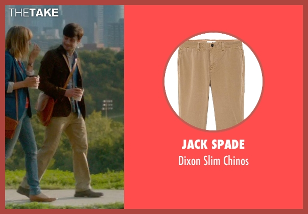 Jack Spade beige chinos from What If seen with Daniel Radcliffe (Wallace)