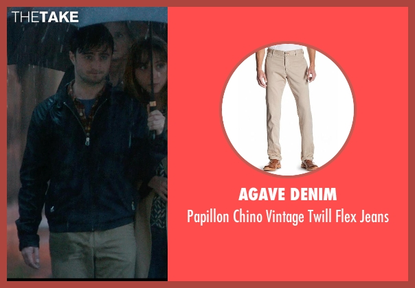 Agave Denim beige jeans from What If seen with Daniel Radcliffe (Wallace)