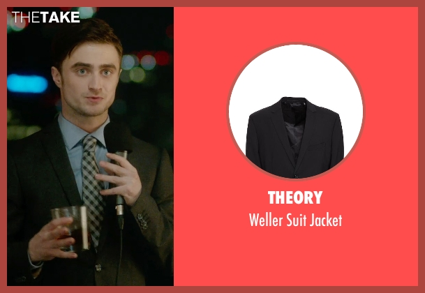 Theory black jacket from What If seen with Daniel Radcliffe (Wallace)