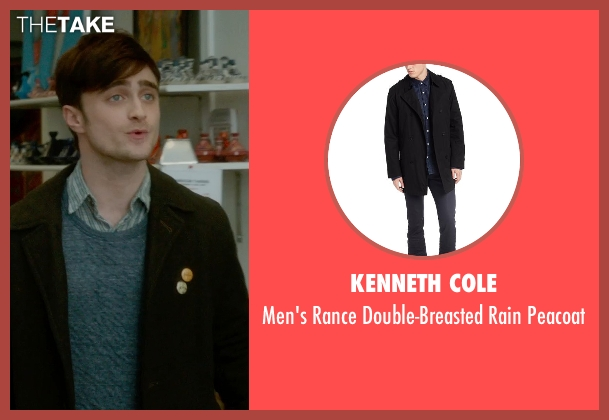 Kenneth Cole black peacoat from What If seen with Daniel Radcliffe (Wallace)